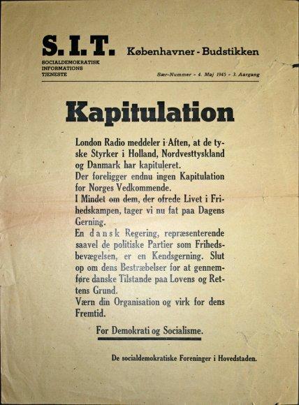 SIT kapitulation 4 maj 1945